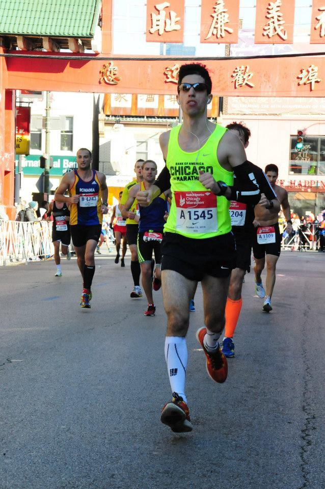 Dan at a marathon