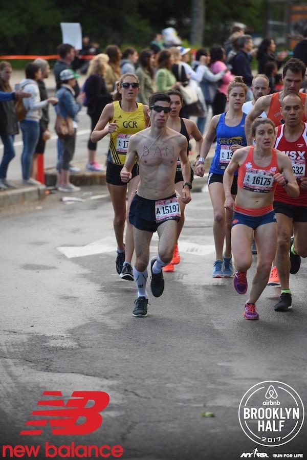 Dan running during a marathon