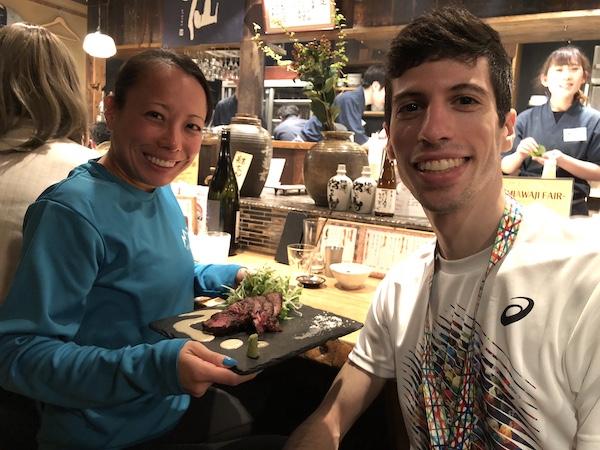 Dan and Faith at dinner