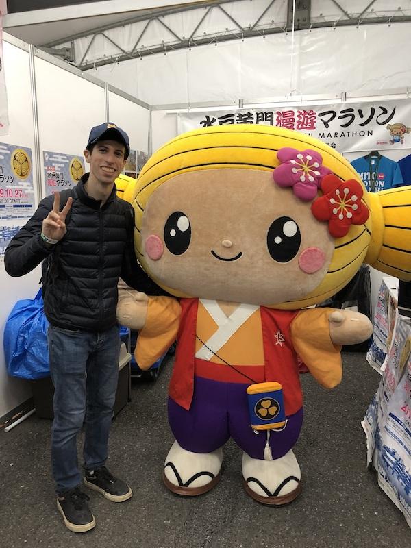 Kawaii Japanese mascot at 2019 Tokyo Marathon expo