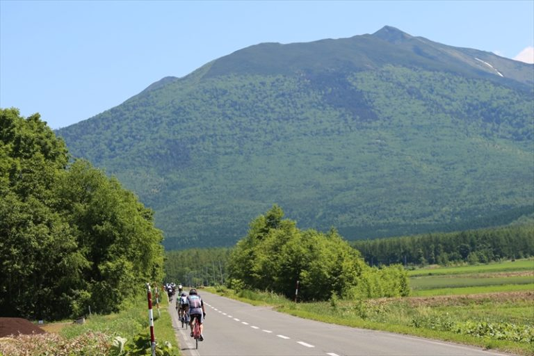 cyclist during great earth furano ride