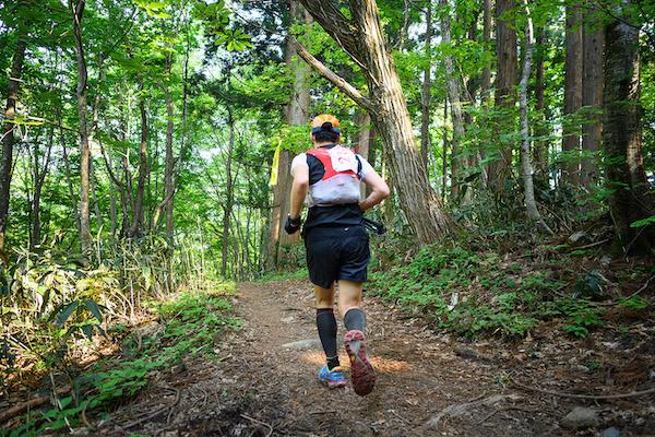 runner during Hiroshima Osorakan trail race
