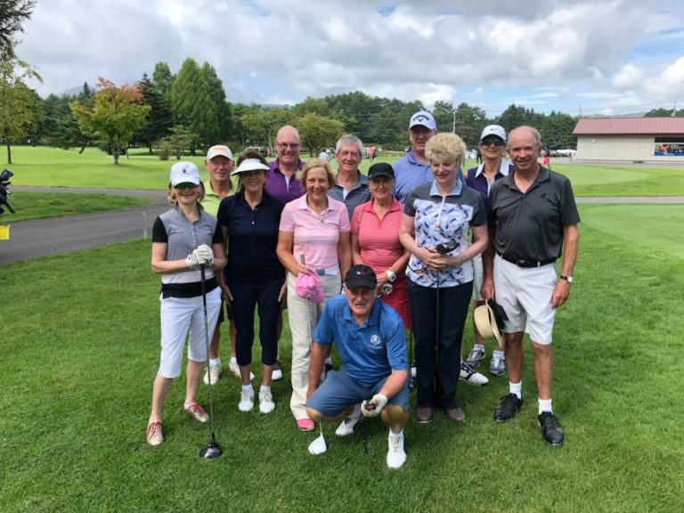 golfers at Tomei Country Club