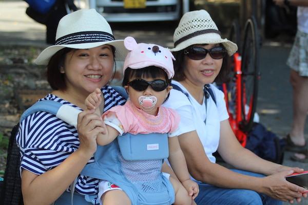 spectators at Okinawa International Triathlon