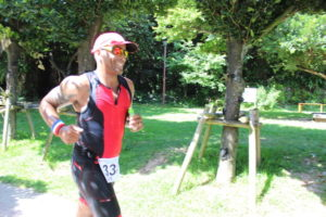 runner during Okinawa International Triathlon