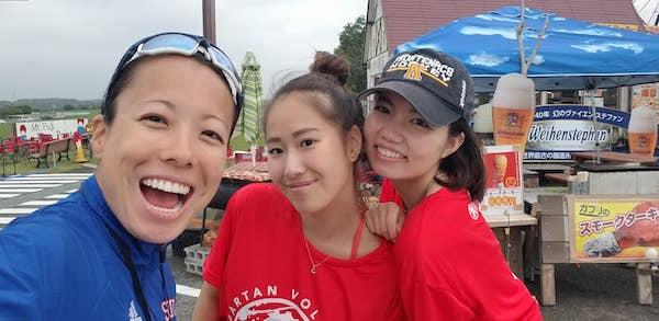 faith and Samurai Sports volunteers