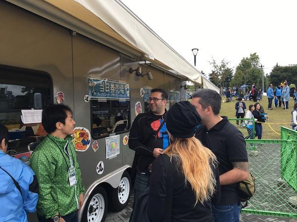 food truck outside stadium