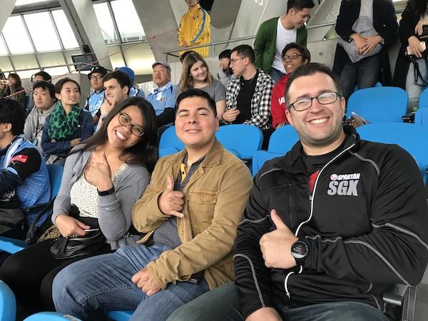 fans watching j league championship