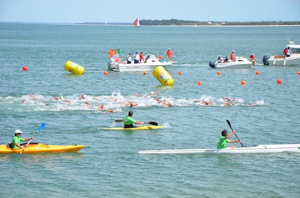 swimmers during Tateyama open water swim