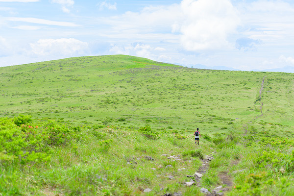 runner during Utsukushigahara trail race