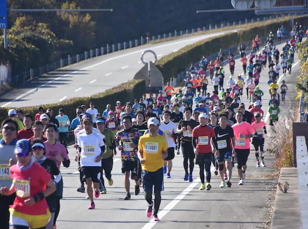 Runners during Ise Half Marathon 2019