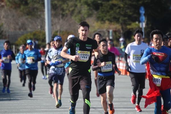 Sprint to finish line at Ise Half Marathon & 5KM