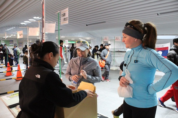Race packet collection at Ise Half Marathon