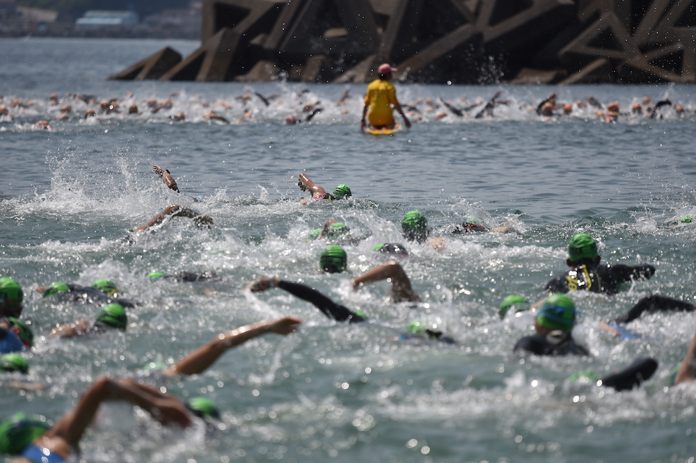 swimming course of triathlon