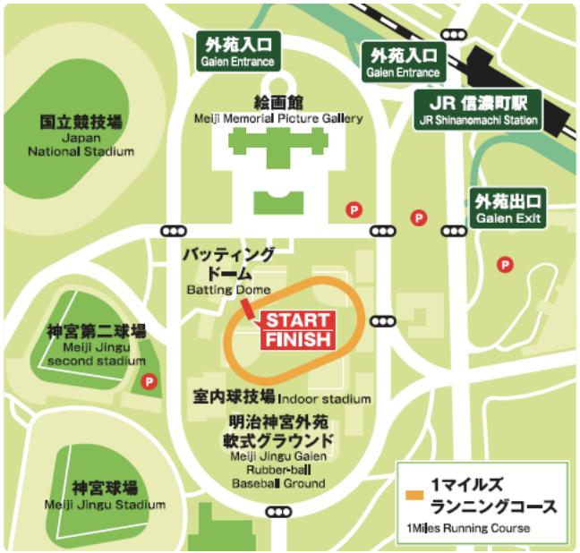 1Mile tokyo marathon course map