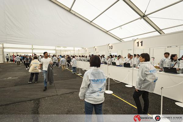 tokyo marathon race pick up tent