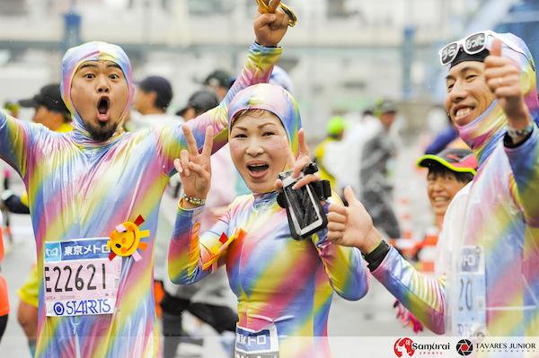 runners during tokyo marathon