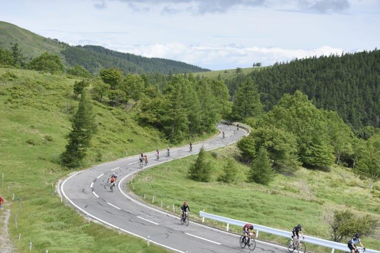 Nagano cycling at the Tour de Utsukushigahara