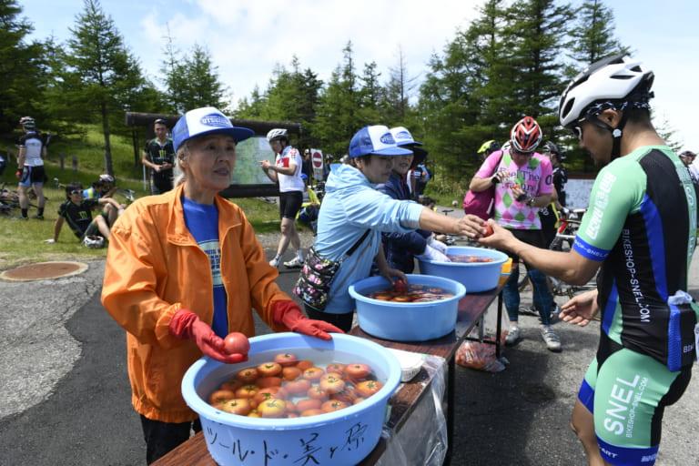 Aid station at the 2019 Tour de Utsukushigahara