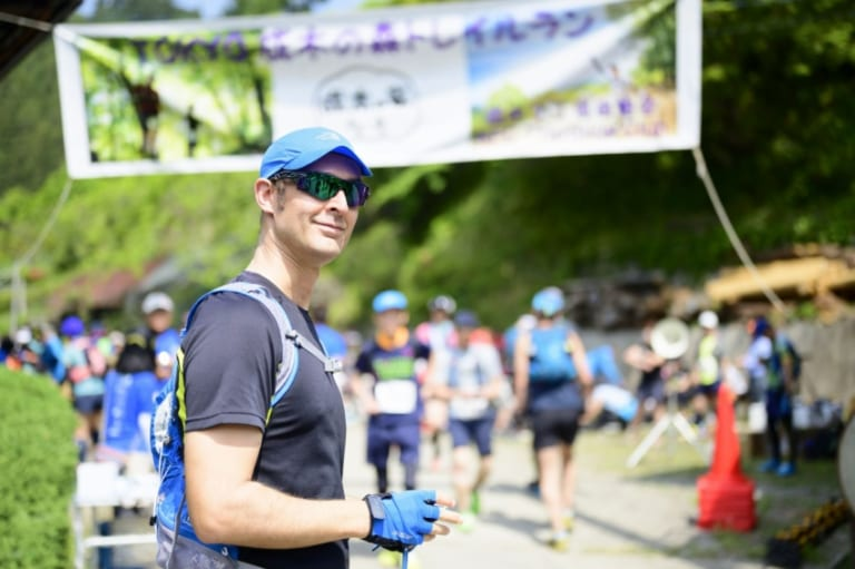runner after nariki forest trail race