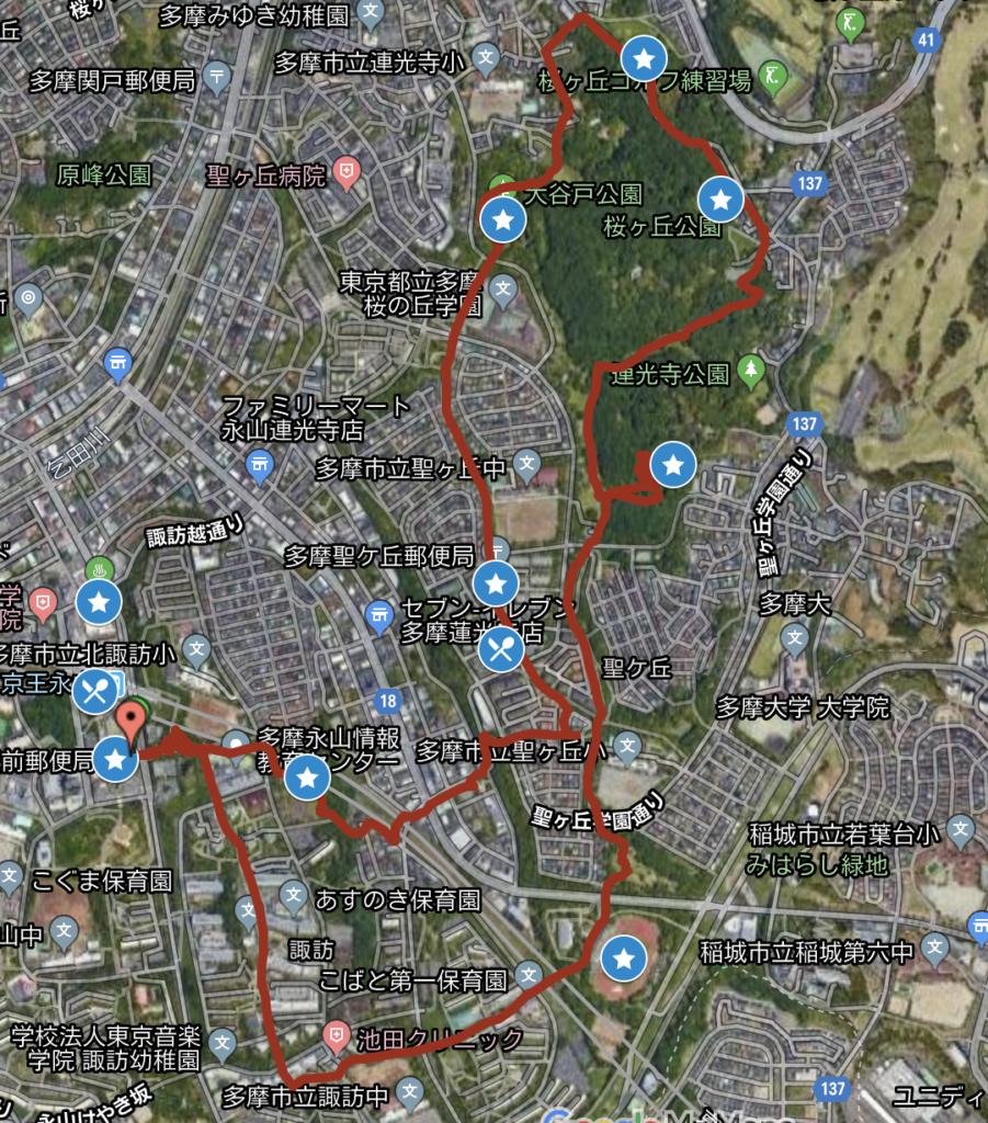 Toritsu-Sakuragaoka park map