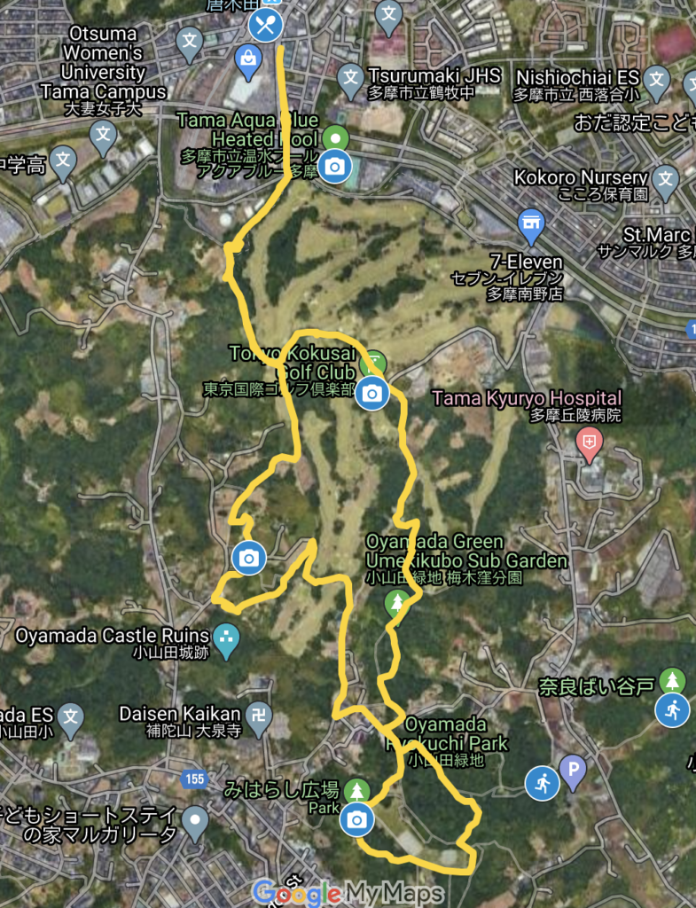 rolling hills of the Oyamada parks map