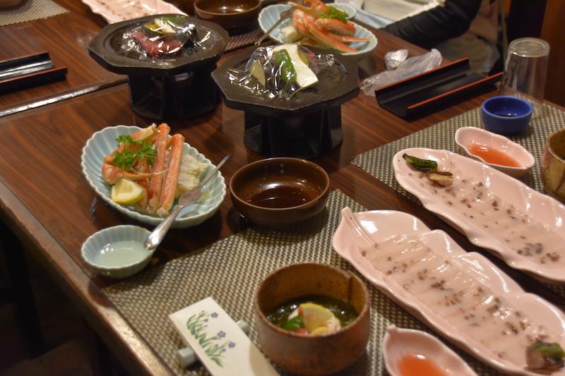 dinner at Tsuwano Meigetsu hotel