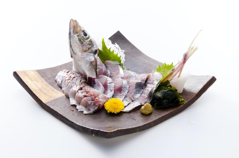 Hagi sashimi dish