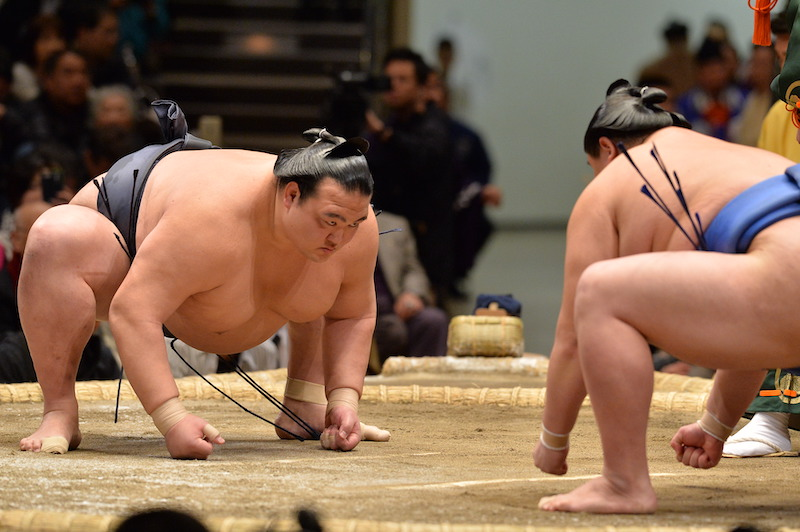 sumo match beginning