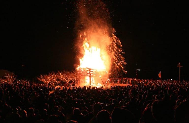 Dosojin Fire Festival in Nagano