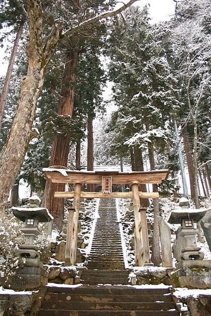 Yuzawa Shrine at Nagano