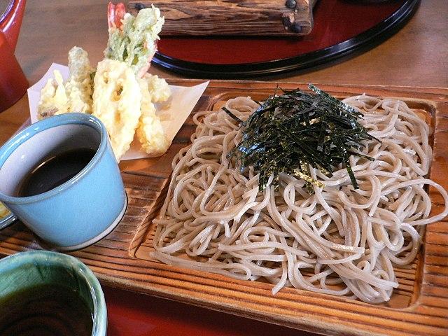 Shinshu soba famous in Nagano (source: Wiki)