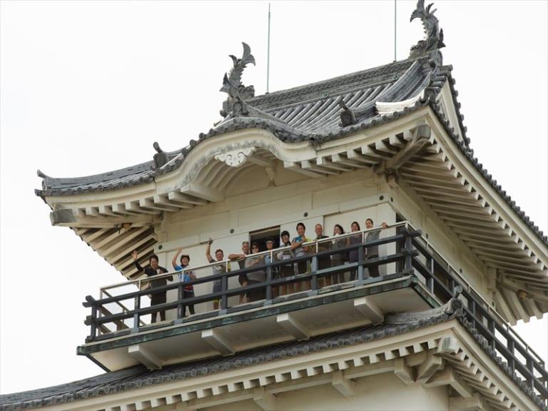 Rooftop of Imabari Castle
