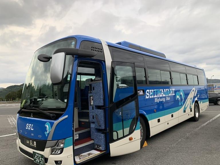 Highway bus from Imabari to Hiroshima