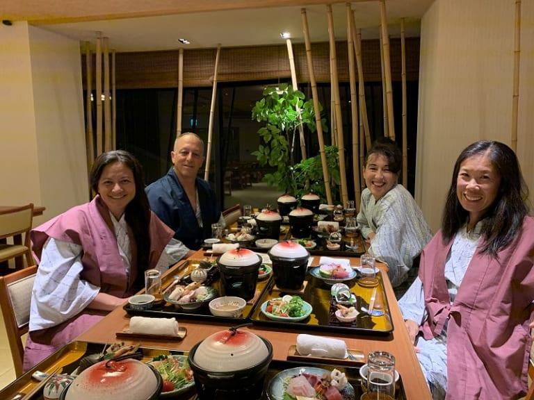 Japanese ryokan dinner