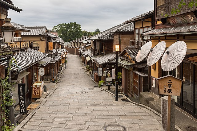 Gion roads in Kyoto