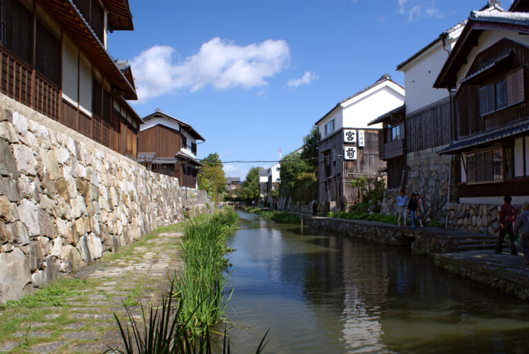 Hachimanbori Canal in Japan