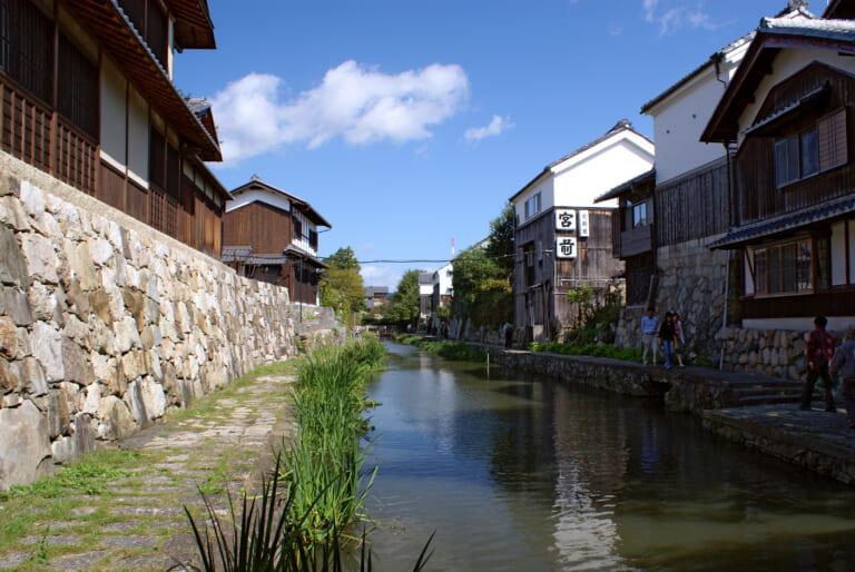 Hachimanbori Canal in Japan