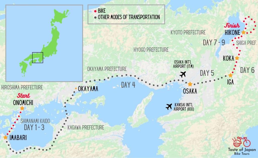 Cycling Map - Kansai Region
