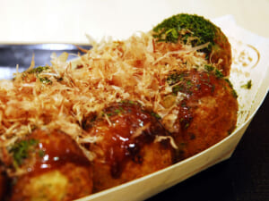 Octopus balls (takoyaki) snacks