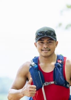 nariki forest trail race participant