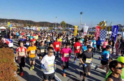 Runners at the Ise Half Marathon