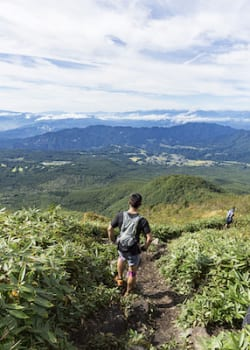 runners during Shinshu Togakushi trail race